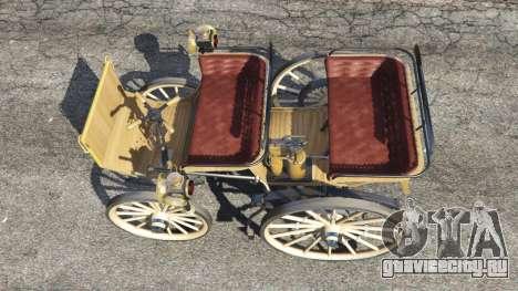 Daimler 1886 [wood] для GTA 5 вид сзади
