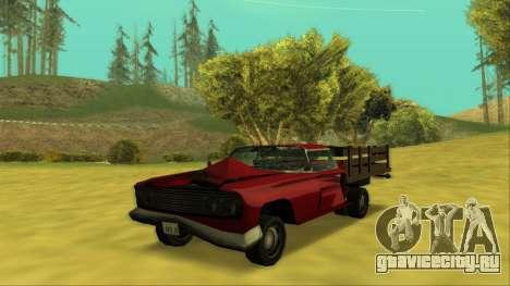 Voodoo El Camino v2 (Truck) для GTA San Andreas вид снизу