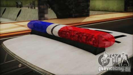 Police Car R.P.D. from RE 3 Nemesis для GTA San Andreas вид сзади