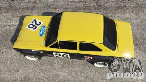 Ford Escort MK1 v1.1 [26] для GTA 5 вид сзади