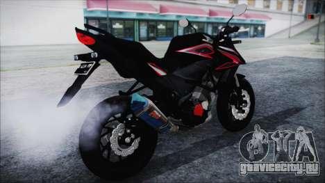 Honda CB150R Black для GTA San Andreas вид сзади слева