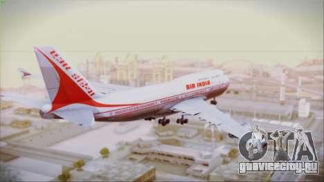 Boeing 747-437 Air India Tanjore New Skin для GTA San Andreas вид слева