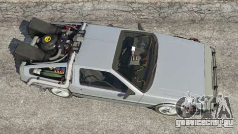 DeLorean DMC-12 Back To The Future v1.0 для GTA 5 вид сзади