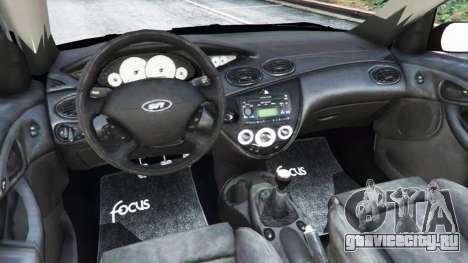 Ford Focus SVT Mk1 для GTA 5 вид сзади справа