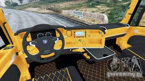 Scania R730 для GTA 5 вид сзади справа