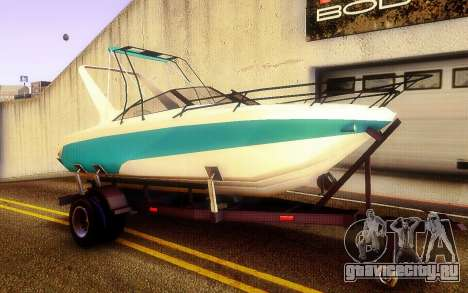 GTA V Boat Trailer для GTA San Andreas вид справа