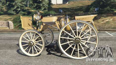 Daimler 1886 [wood] для GTA 5 вид слева