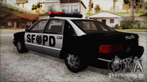 Beta SFPD Cruiser для GTA San Andreas вид слева