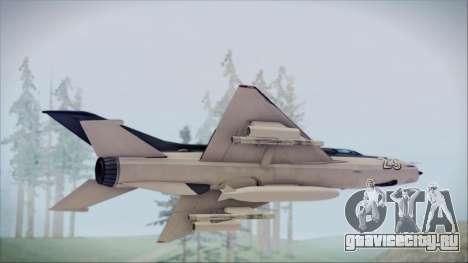 MIG-21MF URSS для GTA San Andreas вид сзади слева