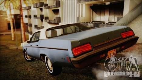 Oldsmobile Delta 88 1973 Final для GTA San Andreas вид слева