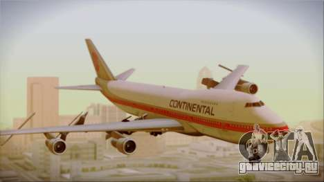 Boeing 747-200 Continental Airlines Red Meatball для GTA San Andreas вид сзади слева