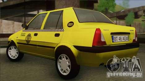 Dacia Solenza Taxi для GTA San Andreas вид слева