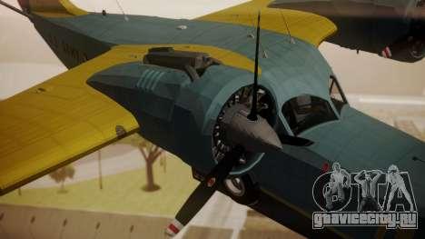 Grumman G-21 Goose N130FB для GTA San Andreas вид справа