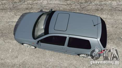 Volkswagen Golf Mk4 R32 для GTA 5 вид сзади