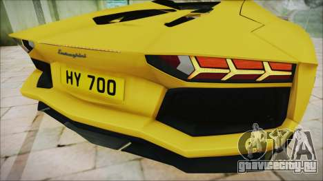Lamborghini Aventador LP700-4 Roadster 2013 для GTA San Andreas вид изнутри