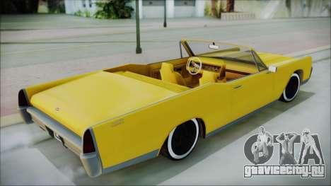 GTA 5 Vapid Chino Bobble Version для GTA San Andreas вид сзади слева