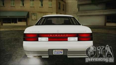 GTA 5 Karin Intruder IVF для GTA San Andreas вид изнутри