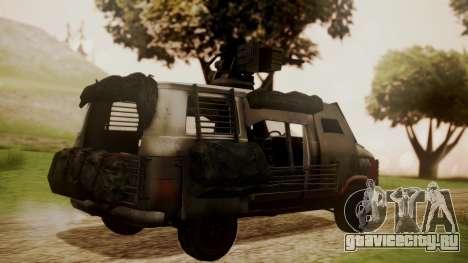 BF3 Rhino для GTA San Andreas вид слева