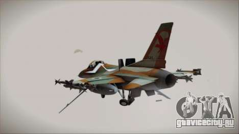F-16C Block 25 Israeli Air Force для GTA San Andreas вид слева