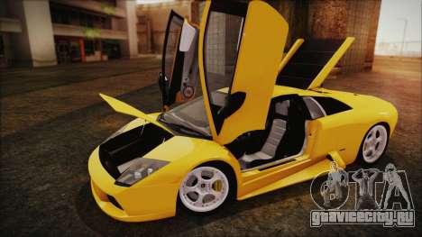 Lamborghini Murcielago 2005 Yuno Gasai IVF для GTA San Andreas вид сзади