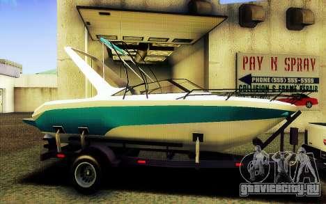 GTA V Boat Trailer для GTA San Andreas вид слева