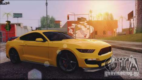 Ford Mustang Shelby GT350R 2016 No Stripe для GTA San Andreas вид слева