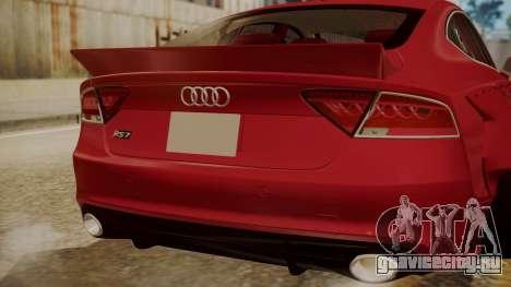 Audi RS7 X-UK L3D для GTA San Andreas вид сзади