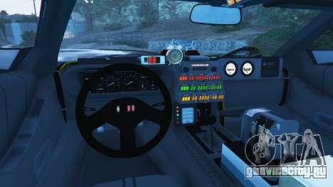 DeLorean DMC-12 Back To The Future v1.0 для GTA 5 вид сзади справа