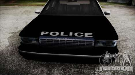 Beta SFPD Cruiser для GTA San Andreas вид справа