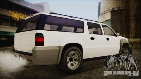 GTA 5 Declasse Granger Civilian IVF для GTA San Andreas вид слева