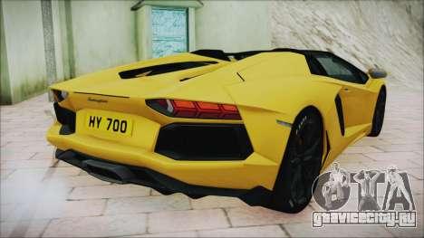 Lamborghini Aventador LP700-4 Roadster 2013 для GTA San Andreas вид сзади слева