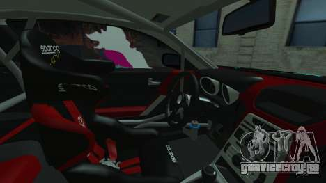 Hyundai Genesis Coupe Hatsune Miku Itasha PJ для GTA San Andreas вид сзади