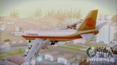 Boeing 747-200 Continental Airlines Red Meatball для GTA San Andreas вид слева