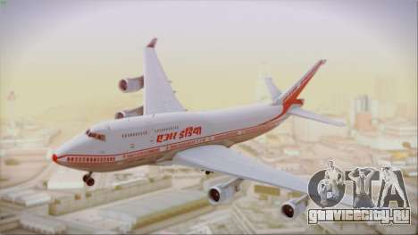 Boeing 747-437 Air India Tanjore New Skin для GTA San Andreas вид сзади слева