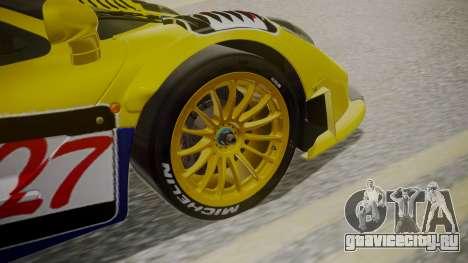 McLaren F1 GTR 1998 Parabolica для GTA San Andreas вид сзади слева