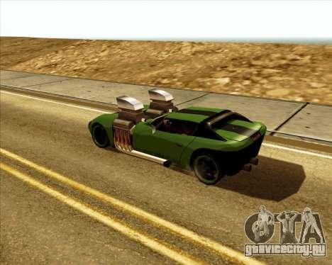 Banshee Twin Mill III Hot Wheels для GTA San Andreas вид справа