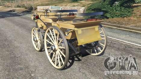 Daimler 1886 [wood] для GTA 5 вид сзади слева