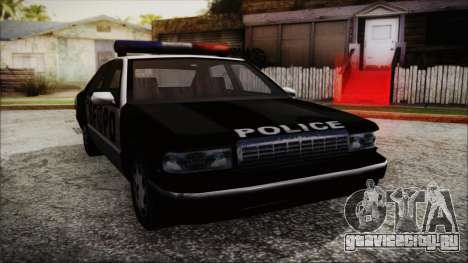 Beta SFPD Cruiser для GTA San Andreas вид сзади слева