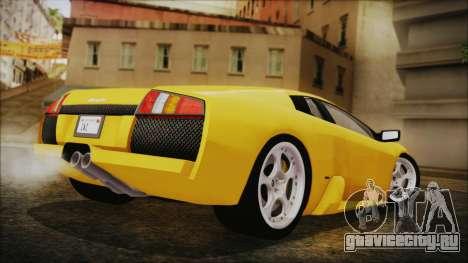 Lamborghini Murcielago 2005 Yuno Gasai IVF для GTA San Andreas вид слева