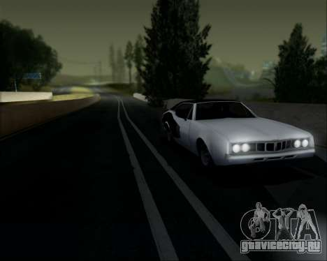 Clover Barracuda для GTA San Andreas вид сзади