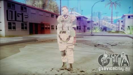 MGSV Phantom Pain Snake Normal Golden Tiger для GTA San Andreas второй скриншот
