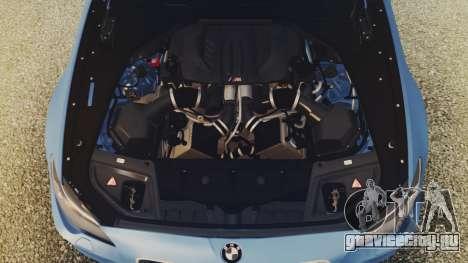 BMW M5 F10 Stock Single для GTA San Andreas вид изнутри
