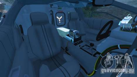 DeLorean DMC-12 Back To The Future v1.0 для GTA 5 вид справа