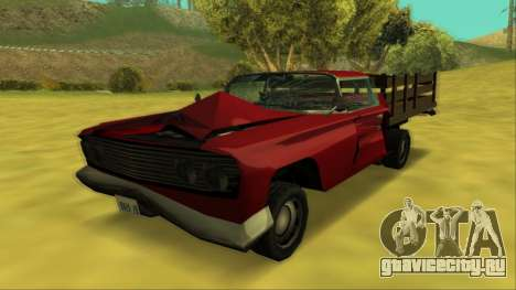 Voodoo El Camino v2 (Truck) для GTA San Andreas вид сверху