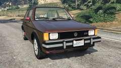 Volkswagen Rabbit 1986 v2.0 для GTA 5