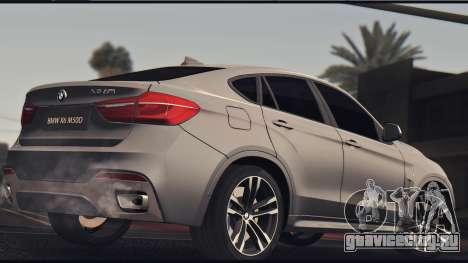 BMW X6M 50D для GTA San Andreas вид сзади слева