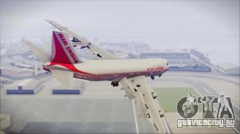 Boeing 747-237Bs Air India Emperor Ashoka для GTA San Andreas вид слева