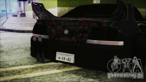 Nissan Skyline R33 Widebody v2.0 для GTA San Andreas вид изнутри