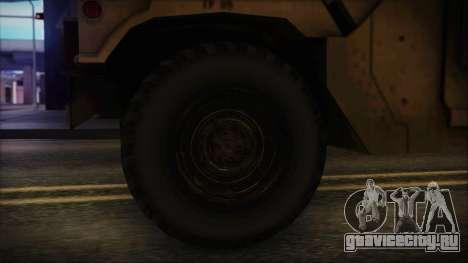 HMMWV Patriot для GTA San Andreas вид сзади слева