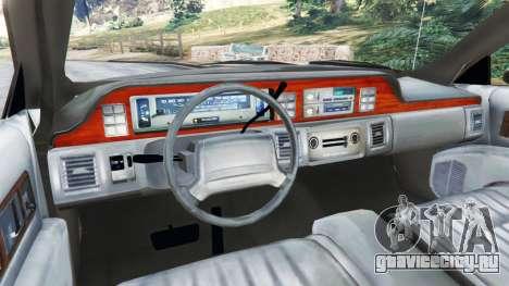 Chevrolet Caprice 1991 v1.2 для GTA 5 вид сзади справа